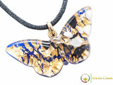 Butterfly Pendant - Gold and Blue