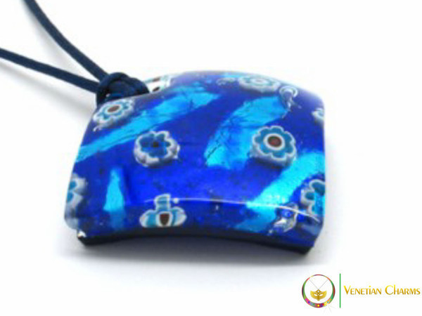 Curved Pendant 40mm - Blue