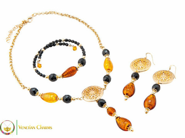 Levante Set - Amber, Gold and Black