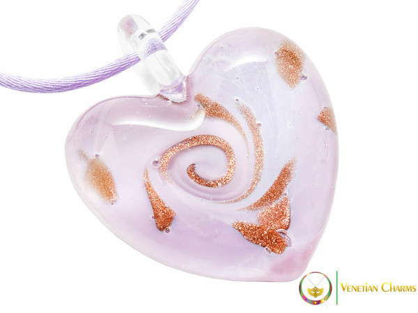 Passione Heart Pendant - Pink and Gold