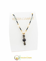 Perlage 2 Pendant Necklace - Grey, Black and Gold