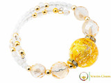 Perlage Necklace Set - Gold & Clear
