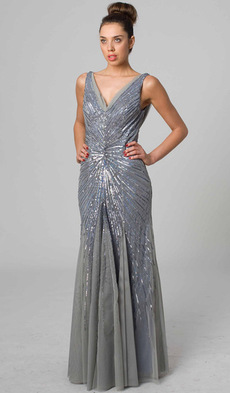 RC202 GLITTERY AND CHIC GLAMOUR GOWN BLUE PEARL