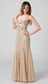 RC203 SASSY FIT & FLARE FORMAL GOWN PEACH