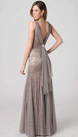 RC202A STUNNING BACK BEADED GLAMOUR GOWN MOCHA