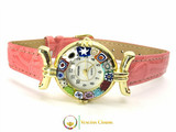 One Lady Gold Murano Glass Watch - Pink