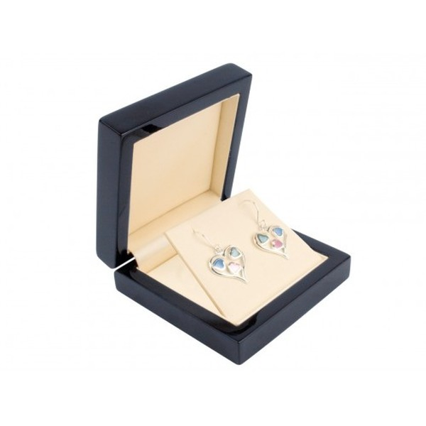 Black Wooden Gift Box for Pendant or Drop Earrings