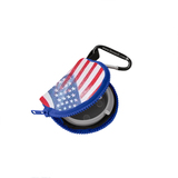 Retain-It™ - USA Flag Print Neoprene with Blue Zipper and Carabiner