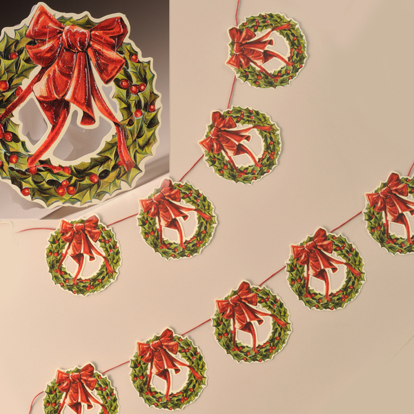 Christmas Wreath Garland with Glitter